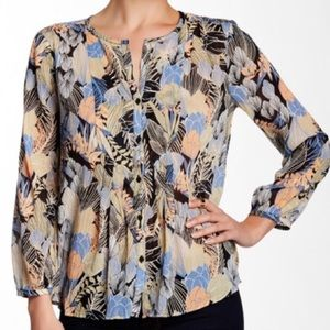 🍂 Lucky Brand Boho Floral Peasant Top